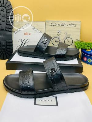 Original Gucci Leather Black Slippers Available | Shoes for sale in Lagos State, Surulere