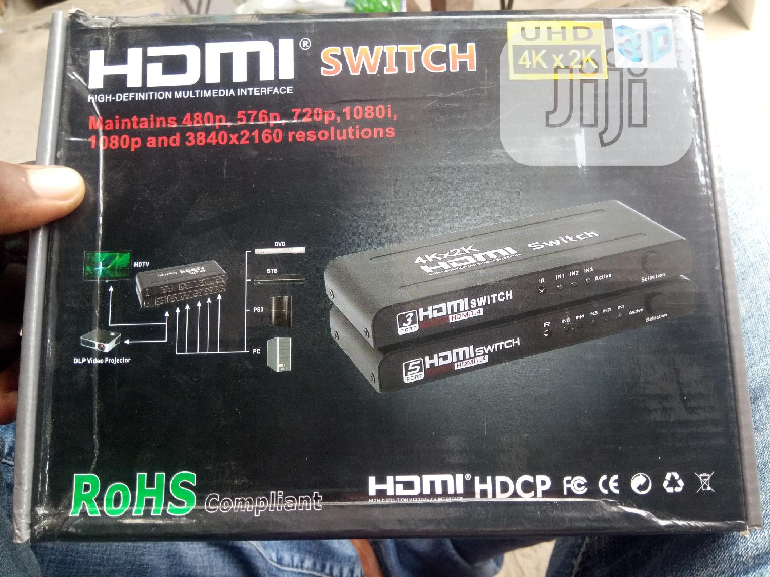 1×5 Hdmi Switch 4k With Remote