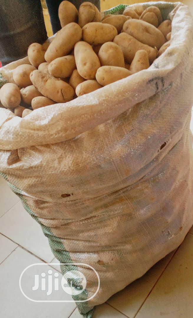 Archive: Basket of Irish Potatoes in Abuja