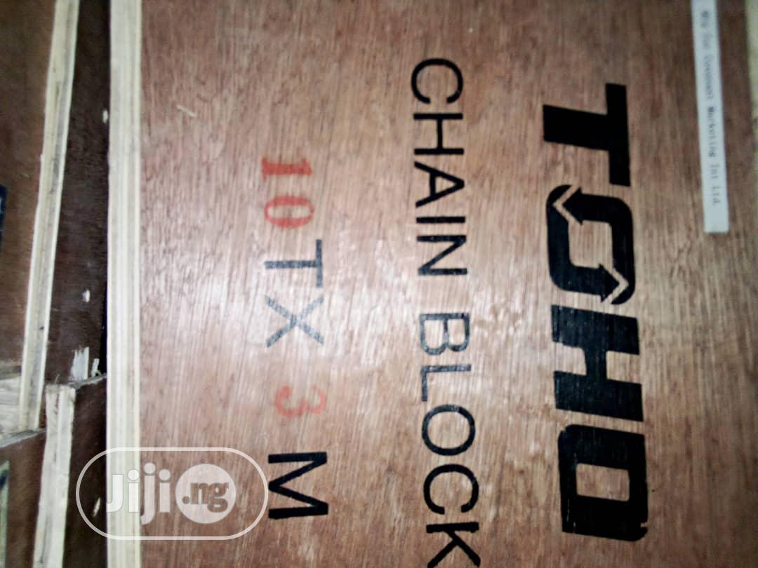 Chain Block for Lifting 5ton/3ton/10ton X3mtr/ 6mtr Long | Manufacturing Equipment for sale in Isolo, Lagos State, Nigeria