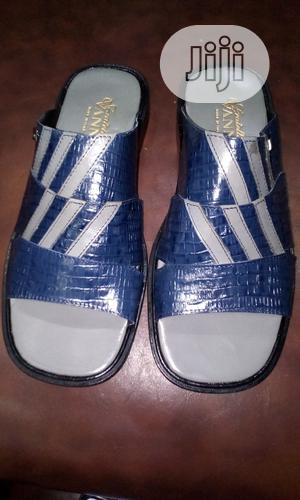 Blue Vanni Italian Men Perm Slippers | Shoes for sale in Lagos State, Surulere