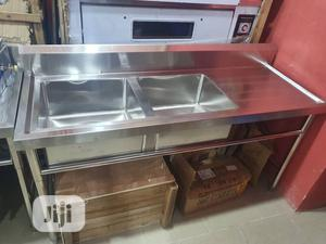 Stainless Steel Kitchen Sink Double Bowl | Kitchen Appliances for sale in Lagos State, Ojo