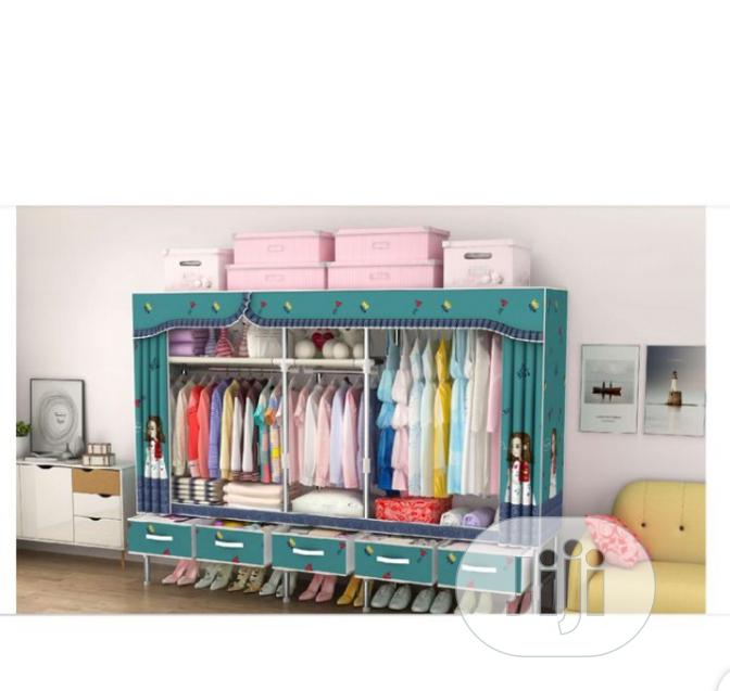 Archive: Quality Wardrobe +5 Drawers ( Big Size L-200x B-45x H-172cm)