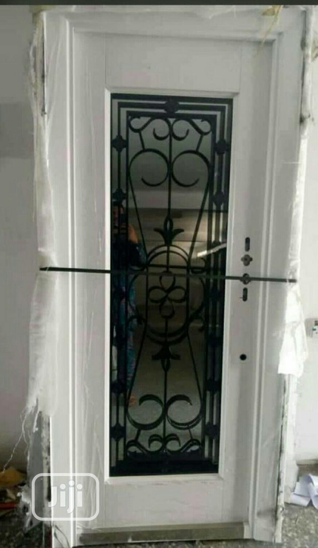 Archive: White Copper Swing Glass Door 3 Ft