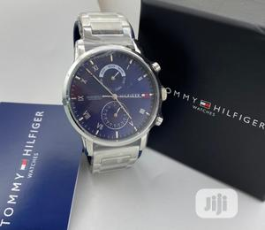 High Quality Tommy Hilfiger Silver Chain Watch for Men | Watches for sale in Lagos State, Magodo