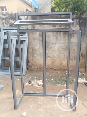 Ykeasy Aluminum Casmet Window Gray Materials | Windows for sale in Lagos State, Ipaja