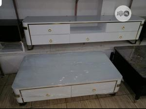 Quality Wood/Glass Television Stand With Center Table | Furniture for sale in Abuja (FCT) State, Central Business District