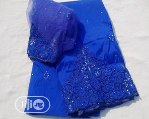 Beaded and Bedazzled Royal Blue Indian George With Blouse | Clothing for sale in Abuja (FCT) State, Kubwa