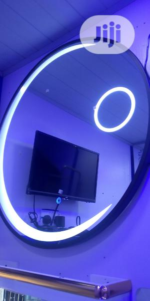 Round L E D Mirror With Frame Round It | Home Accessories for sale in Lagos State, Orile