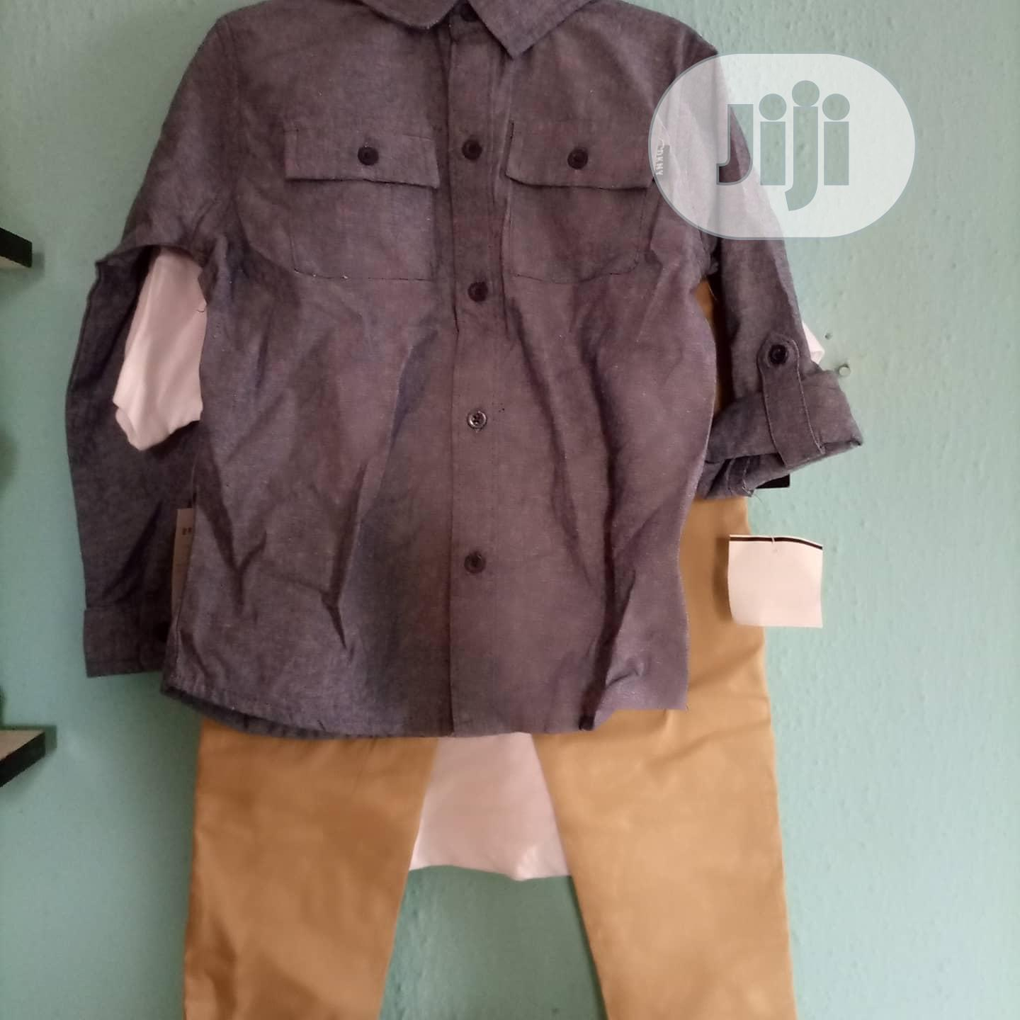 Archive: Boy's 3 Pieces Of Top, Shirt And Trouser