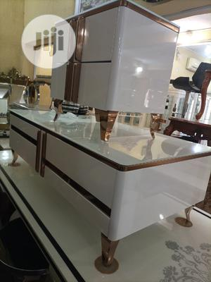 Latest New Design Tv Stand and Center Table Two Side Stools | Furniture for sale in Lagos State, Lekki