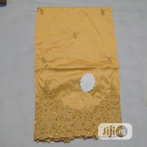All Gold Monotone Indian George With Blouse - 7 Yards | Clothing for sale in Abuja (FCT) State, Kubwa