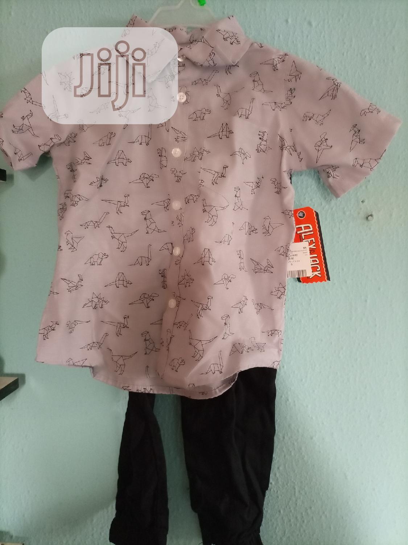 Archive: Alex & Jack 2 Pieces Set For Boys, Shirt And Joggers Trouser