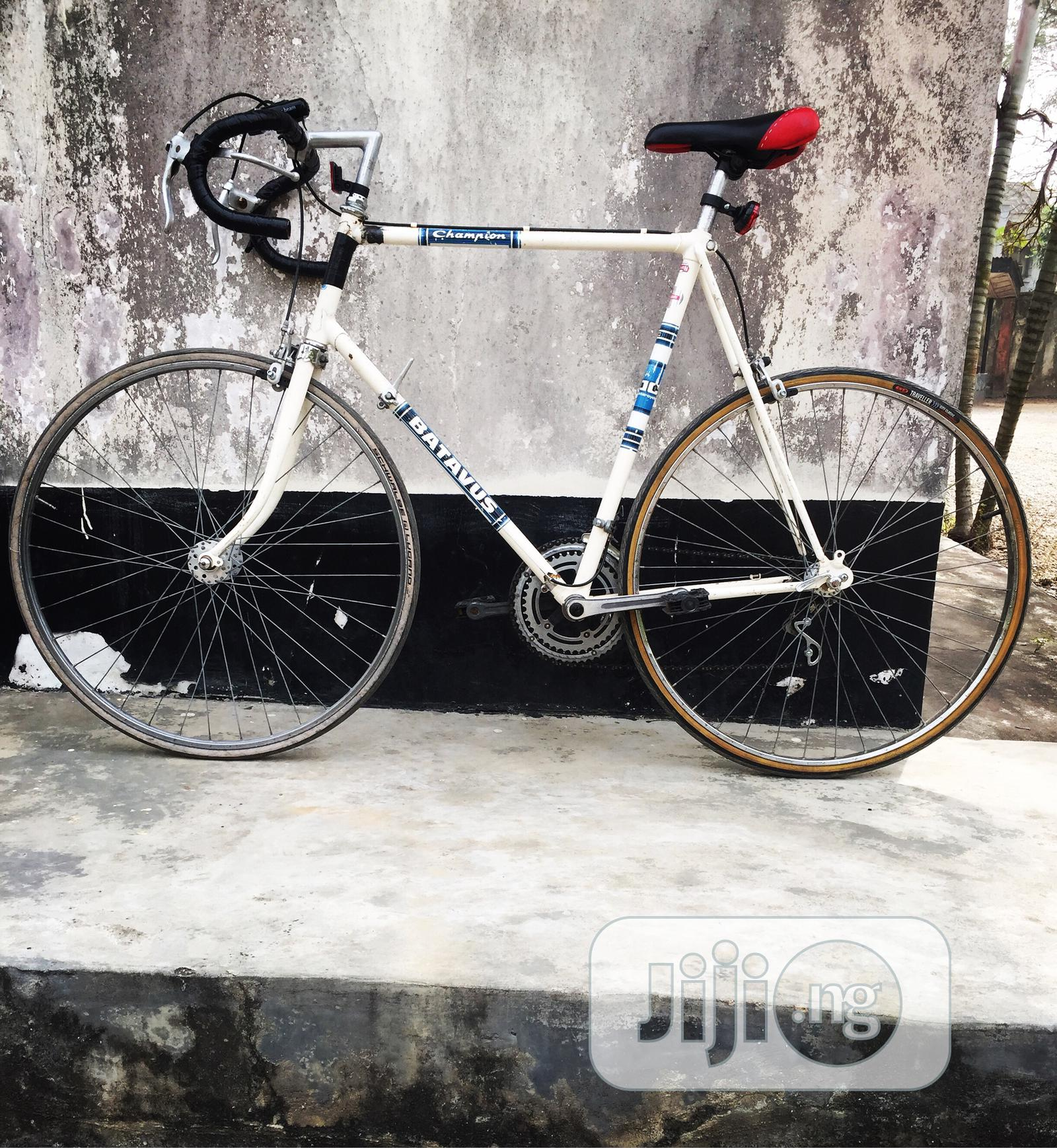 Archive: White Sprint Road Bicycle Size 28 The Bike Is In Good Condi