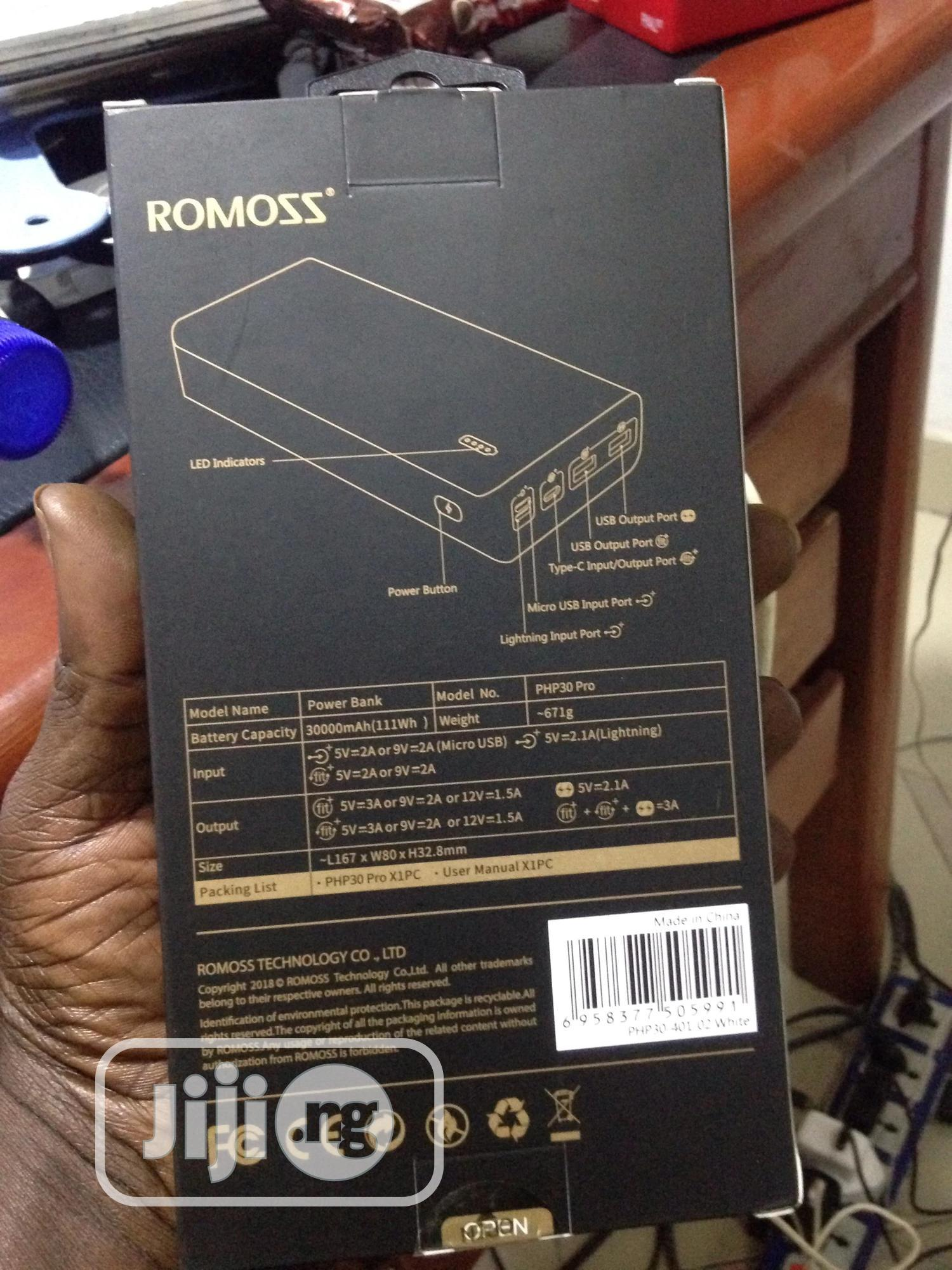 30000mah Romoss Power Bank | Accessories for Mobile Phones & Tablets for sale in Egbeda, Oyo State, Nigeria
