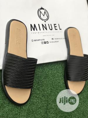 Cover Palm Slippers in Cream Amd Black | Shoes for sale in Lagos State, Mushin