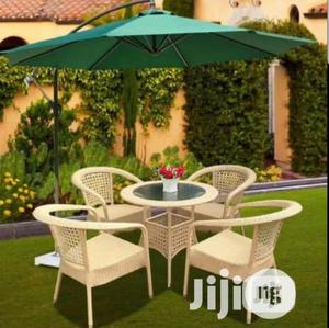 A Set Of Outdoors Chairs And Umbrella ,Is 4 Seaters | Furniture for sale in Lagos State, Ojo