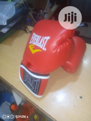Red Everlast Boxing Gloves   Sports Equipment for sale in Lagos State, Ajah