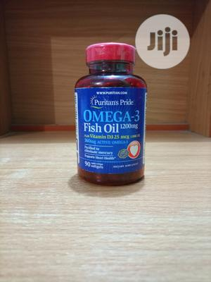 Puritans Pride Omega-3 Fish Oil With Vitamin D3 1000IU X 90   Vitamins & Supplements for sale in Lagos State, Surulere