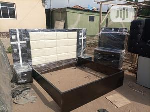 6 by 6 Bed Frame With 2 Bed Side and Dressing Mirror | Furniture for sale in Lagos State, Ikeja