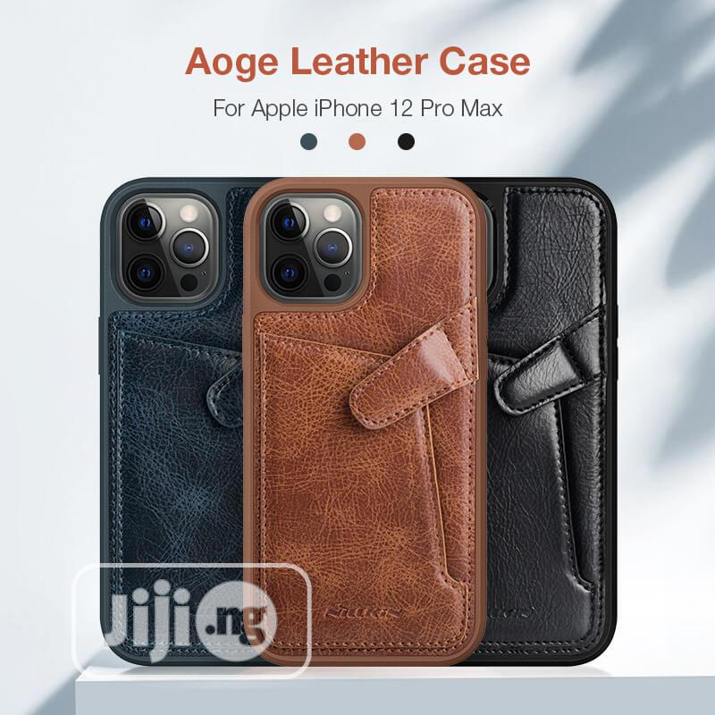 Leather Cover Case for Apple iPhone 12/Pro/Max | Accessories for Mobile Phones & Tablets for sale in Ikeja, Lagos State, Nigeria