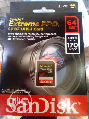 64gb Sandisk Extreme Pro Memory Card 4k | Accessories & Supplies for Electronics for sale in Lagos State, Ikeja
