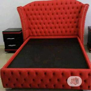 Full Upholstery Red Bed Frame With Bed Side | Furniture for sale in Lagos State, Agege