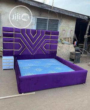 Latest Designed Wall Bed Frame With a Bed Side   Furniture for sale in Lagos State, Agege