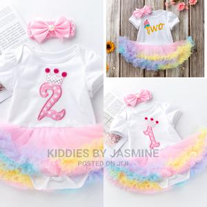 Baby Girl Birthday Romper Tutu With Headband   Children's Clothing for sale in Lagos State, Alimosho