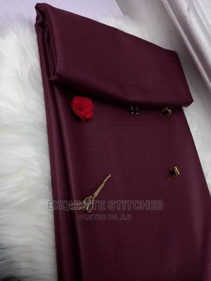 Wine Senator Material-4 Yards | Clothing for sale in Lagos State, Ojodu