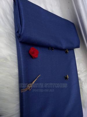 Nice Blue Senator Material-4 Yards | Clothing for sale in Lagos State, Ojodu