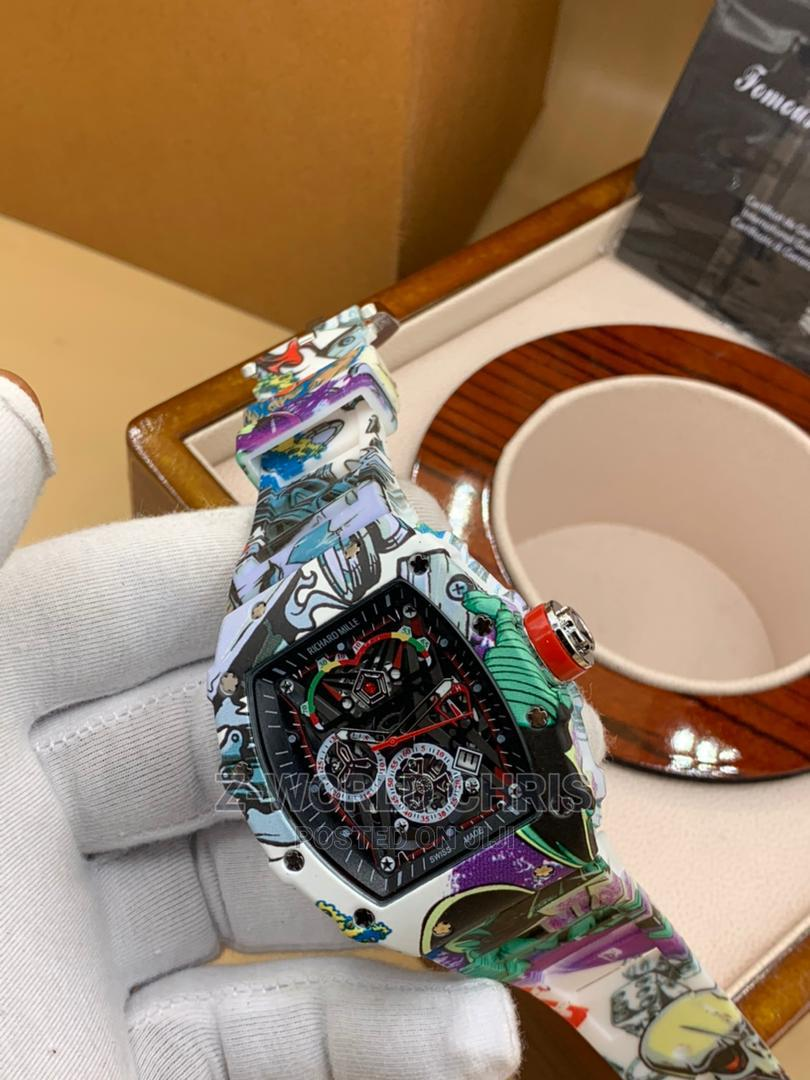 Richard Mille Men's Rubber Wristwatch   Watches for sale in Surulere, Lagos State, Nigeria