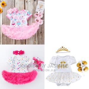 Baby Girl Romper Tutu, Shoe and Headband   Children's Clothing for sale in Lagos State, Alimosho