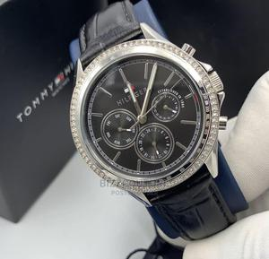 High Quality Tommy Hilfiger Leather Watch For Men | Watches for sale in Lagos State, Magodo