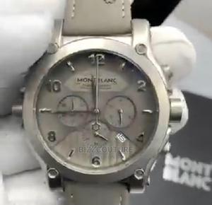 High Quality Montblanc Gray Leather Watch For Men   Watches for sale in Lagos State, Magodo