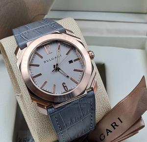 High Quality Bvlgari Leather Watch for Men   Watches for sale in Lagos State, Magodo
