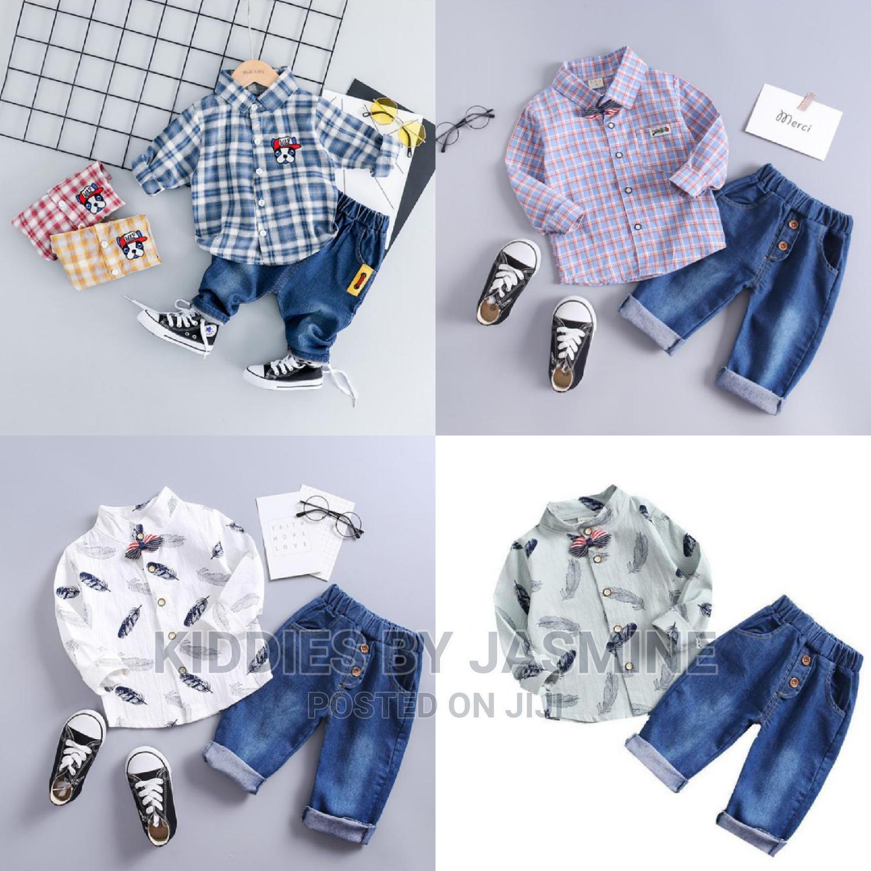 Boy Shirt and Jeans 2 Piece Set