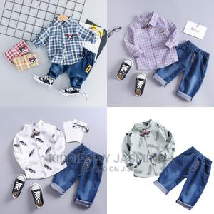 Boy Shirt and Jeans 2 Piece Set   Children's Clothing for sale in Lagos State, Alimosho