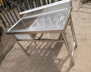 Industrial Stainless Steel Single Sink With Side Board | Restaurant & Catering Equipment for sale in Lagos State, Ojo