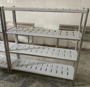 Stainless Steel 5ft Bread Dough Cooling Rack Shelf | Restaurant & Catering Equipment for sale in Lagos State, Ojo