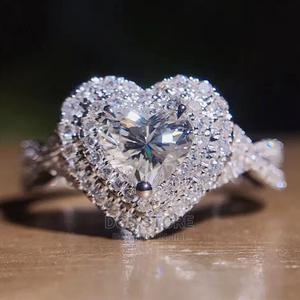 Love Silver Heart Shape Women Engagement Ring   Wedding Wear & Accessories for sale in Lagos State, Ikeja