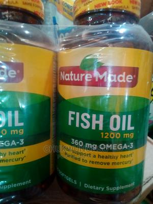 Nature Made Fish Oil 1200mg (3600 Omega-3) 200 Sftgels | Vitamins & Supplements for sale in Lagos State, Amuwo-Odofin