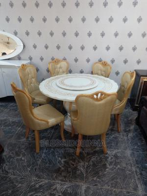 Quality Marble Round Dining Table 6 Seaters | Furniture for sale in Lagos State, Ojo