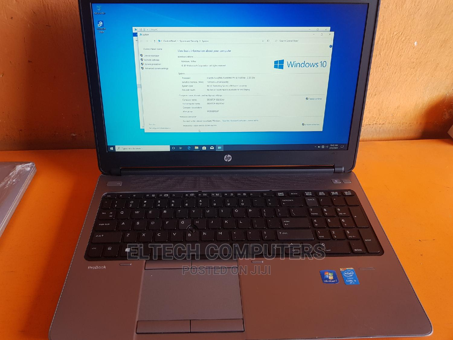 Laptop HP 650 G1 4GB Intel Core i5 HDD 500GB | Laptops & Computers for sale in Ikeja, Lagos State, Nigeria