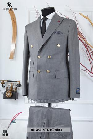 Gray Double Breasted Suit   Clothing for sale in Lagos State, Lagos Island (Eko)