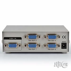 4 Port VGA Splitter Amplifier 1 PC To 4 Port VGA | Audio & Music Equipment for sale in Lagos State, Ikeja