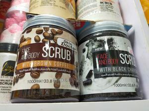 Skin Doctor Face Body Scrub Brown Coffee 1000ml | Bath & Body for sale in Lagos State, Amuwo-Odofin