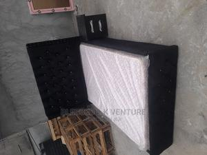 4 and Half By6 Upholstery Bed With Quality Mouka Mattres | Furniture for sale in Lagos State, Ojo