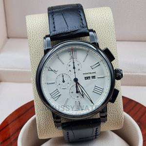 Montblanc Genuine Leather Wrist Watch High Quality | Watches for sale in Lagos State, Lagos Island (Eko)