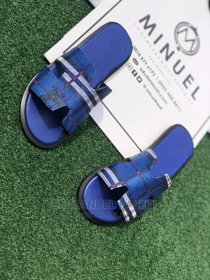 Blue Hermes New Slippers Palm | Shoes for sale in Lagos State, Mushin